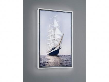 LED Wandbild beleuchtetes Bild Schiff mit Licht Hintergrundbeleuchtung Wanddeko