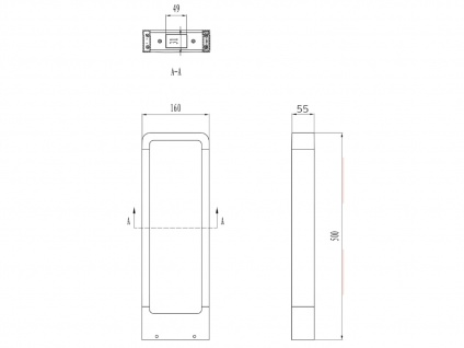 LED Sockelleuchten in Anthrazit 50cm - 2er Set Wegeleuchten Terrassenbeleuchtung - Vorschau 4