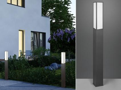 LED Außenwegeleuchte in Anthrazit eckige Pollerleuchten Gartenlampen mit Strom - Vorschau 1