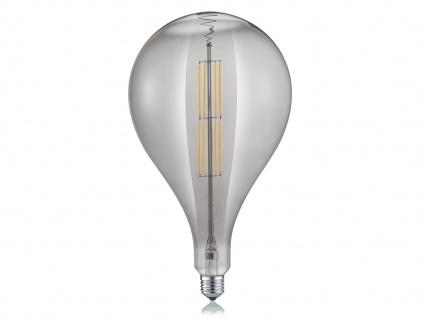 Filament LED Leuchtmittel Tropfen E27 Sockel dimmbar 8Watt 260 Lumen rauchfarbig