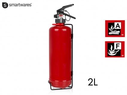 Feuerlöscher Fettbrandlöscher 2L, Brandschutzklasse A F, Brandschutz Haushalt
