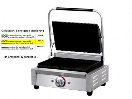 Profi Edelstahl Kontaktgrill glatt/gerillt 2200W, Gastro Elektro Multi Grill - Vorschau 3
