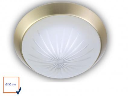 LED Deckenleuchte rund Ø35cm Schliffglas satiniert Messing matt LED Küchenlampe - Vorschau 2