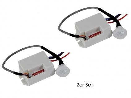 2er Set Mini PIR-Bewegungssensor, 100°/8m, weiß, Bewegungsmelder PIR Sensor - Vorschau 2