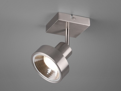 RETRO LED Wandstrahler in Silber schwenkbare Deckenlampen für Flur und Diele
