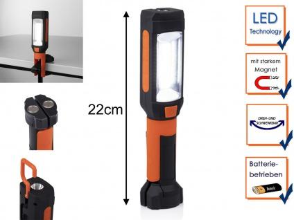 LED Handlampe Taschenlampe mit Magnet, Haken & Klemm Clip, Multifunktionsleuchte