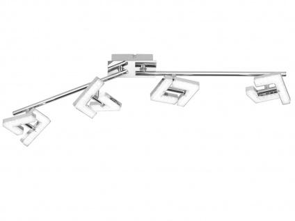LED Deckenleuchte Strahler schwenkbar 4x 4W Chrom poliert Beleuchtung Wohnzimmer
