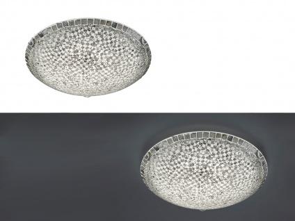 Halbrunde 40cm Glas Deckenschalen, 2er SET Mosaik Designlampen mit Switch Dimmer