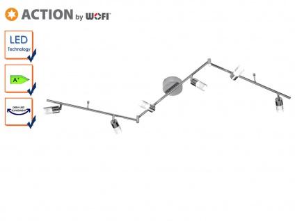 LED Deckenlampe 194 cm, schwenkbar, Chrom / Acryl, Action by Wofi