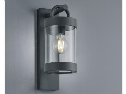 Außenwandleuchte in Anthrazit moderne Laterne E27 - Außenwandlampen für Hauswand