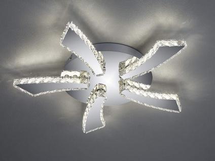 Flache LED Deckenleuchte rund PHIN mit 3fach Color Switch Metall in Chrom Ø 55cm - Vorschau 3
