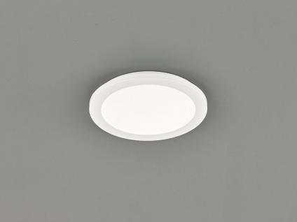 LED Deckenleuchte CAMILLUS flache Badezimmerlampe Rund Ø26cm in Weiß IP44