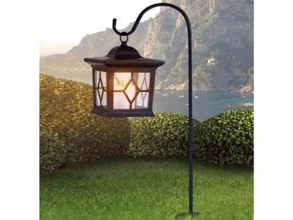 LED Solarleuchte mit Erdspieß zum Aufstellen & Laterne zum Aufhängen, Kunststoff