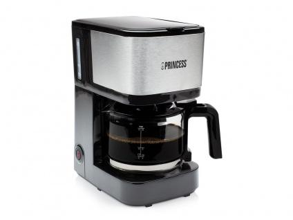 Kaffeemaschine Schwarz mit Edelstahl - Permanentfilter & Glaskanne für 8 Tassen