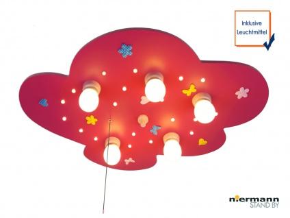 LED Kinder Deckenleuchte Blumenwiese Zugschalter für LED-Schlummerlicht WÖLKCHEN