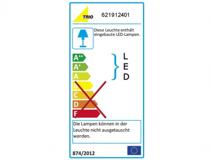 Trio LED Deckenleuchte dimmbar LUGANO 40cm Stoffschirm weiß, Wohnzimmerlampe - Vorschau 4