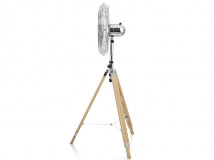 Oszillierender Standventilator mit Holzstativ 2er Set höhenverstellbar Ø 45cm - Vorschau 3