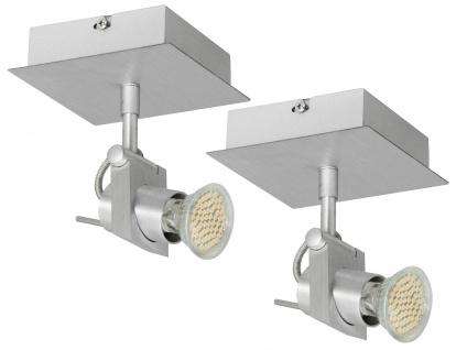 2er SET Deckenspot dreh- und schwenkbar 1-Flammig mit LED Leuchtmittel 3 Watt