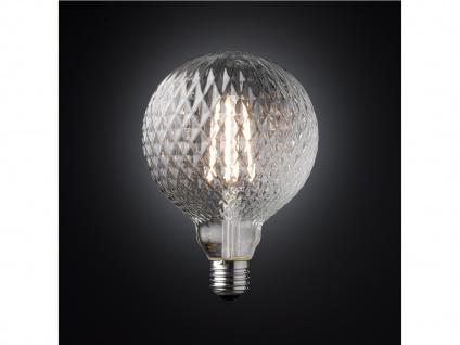 FILAMENT LED Leuchtmittel Glas mit Struktur 4 Watt, 300 Lumen, 1800 Kelvin, E27 - Vorschau 3