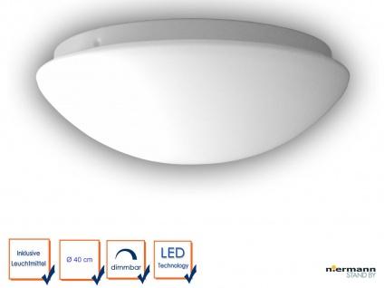 Design LED Deckenleuchte rund Opalglas matt Ø40cm LED Küchenlampe Wandlampe