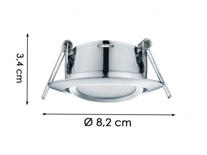 3 Stk. LED Einbaustrahler Decke rund schwenkbar Chrom glänzend 5W Deckenleuchte - Vorschau 5