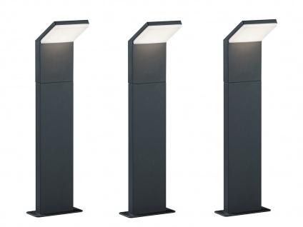 LED Pollerleuchte in Anthrazit 50cm - 3er Set Wegeleuchten Terrassenbeleuchtung - Vorschau 1