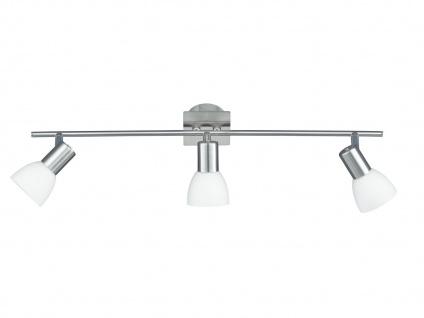 3-fl. Deckenstrahler schwenkbar, Nickel / Glas, Wofi-Leuchten