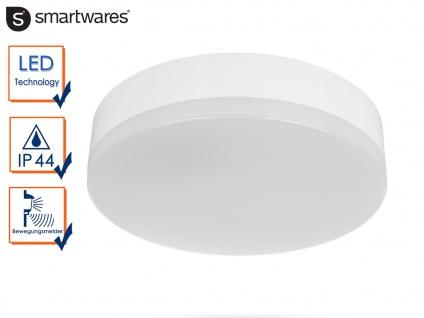 LED Deckenleuchte / Wandleuchte Ø 22cm IP44 Bewegungsmelder Flurleuchte Haus