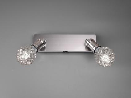 Moderner Metall Innenwandstrahler mit 2 schwenkbaren Spots und dekorativen LEDs