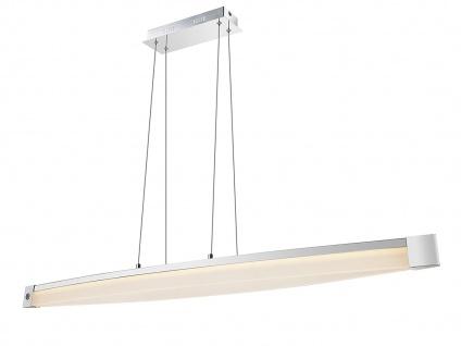 LED Hängelampe 127cm, Touchdimmer, Chrom / Acryl, Wofi-Leuchten
