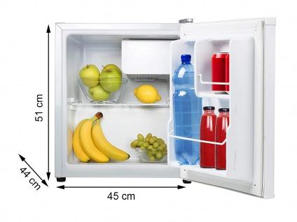 Kleiner Mini Kühlschrank freistehend 45L mit 5L Gefrierfach Camping Minibar
