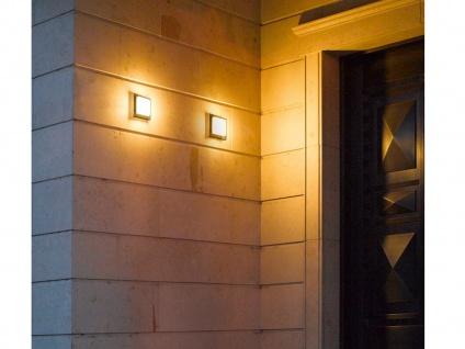 Eckige LED Außenwandlampe in Grau 2 Außenleuchten für Hauswand Außenbeleuchtung - Vorschau 5