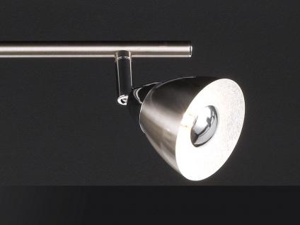 LED Deckenbalken Nickel matt 4 Spots schwenkbar 18W Deckenstrahler Deckenleuchte - Vorschau 5