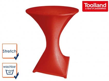STRETCH Stehtisch-Husse rot hochwertig für Ø 80 x 110cm, Bistrotisch Hussen