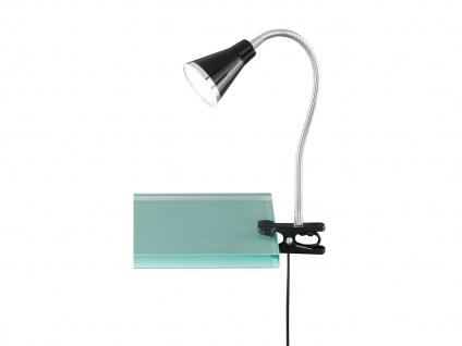 LED Klemmleuchte flexibel Schwanenhalslampe Schwarz Schreibtischlampe Leselampe