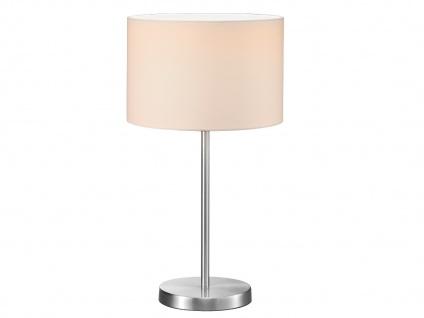 Design LED Tischlampen mit rundem Stoffschirm Weiß Ø30cm - fürs Wohnzimmerlampen - Vorschau 2