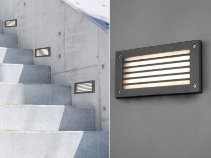 LED Wandeinbauleuchten außen Anthrazit Treppenbeleuchtung Orientierungsleuchten