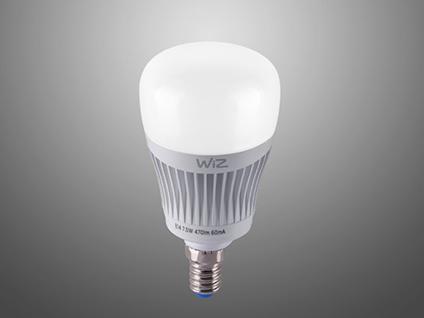 RGBW WiZ LED Leuchtmittel mit E14 Sockel 7 Watt, Sprachsteuerung & Fernbedienung