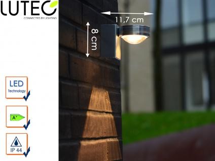Design Außenwandleuchte Edelstahl LED IP44 Downlight Fassadenbeleuchtung Garten