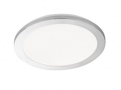 Dimmbare LED Deckenleuchte Badezimmerlampe Ø 30cm, Chrom Acrylglas weiß, IP44