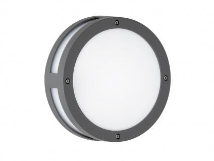 Runde LED Außenwandleuchte 22cm, anthrazit, IP44, Wofi-Leuchten - Vorschau 2