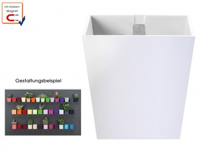 Kunststofftopf mit Magnet Ø 6 cm Weiß, Wandaufbewahrung Wanddeko, KalaMitica