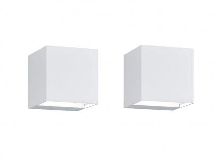 LED Gehwegleuchten weiß 2er SET up&down Lichtstrahl einstellbar Wandlampe außen
