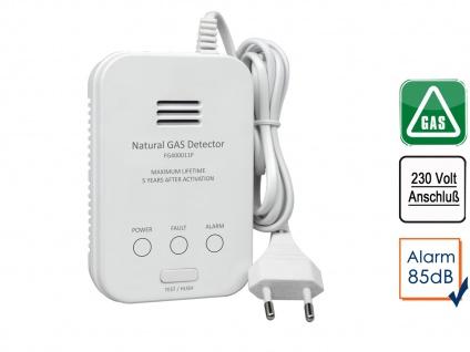 Gasmelder für Methan Gaswarnmelder mit Zuleitung & 85dB Alarm - Gasdetektor