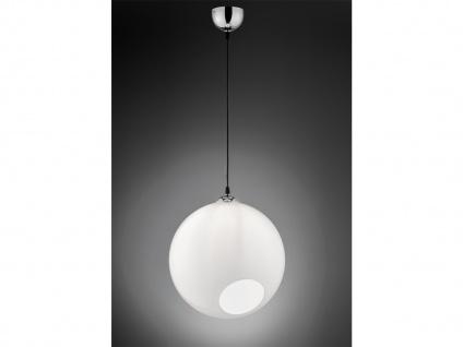 Designer Pendelleuchte Lampenschirm Kugelform Ø35cm aus Glas 1 flammig in weiß