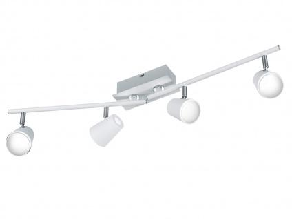 Klassische LED Deckenlampe Weiß Spots schwenkbar 24W - Deckenleuchten Wohnzimmer