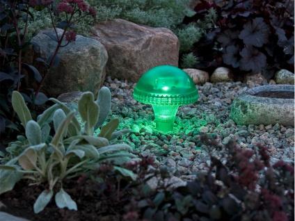 LED Solarleuchte / Gartenleuchte ASSISI, IP44, grün, Höhe 27, 5 cm