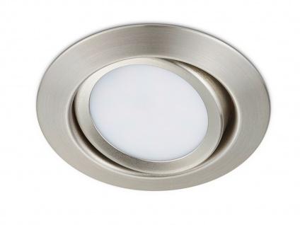 LED Einbaustrahler Decke rund schwenkbar Nickel matt 5W - Deckenbeleuchtung