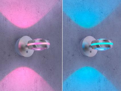WIZ LED Wandleuchte in Silber matt mit Alexa oder App steuern - fürs Wohnzimmer - Vorschau 4