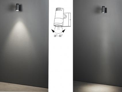 2 x ALU LED Wandleuchten für außen schwenkbar, Lichtaustritt 0°-90° verstellbar - Vorschau 4